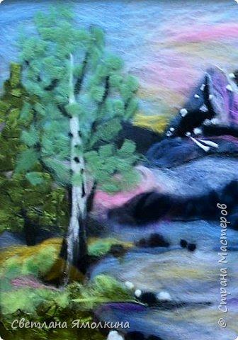 Здравствуйте, дорогие жители СМ! Сегодня я показываю вам очередную шерстяную живопись , размер - 30х40 см. фото 2