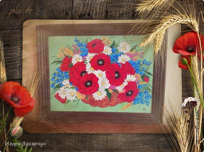 """Картина """"Полевые цветы"""" фото 3"""