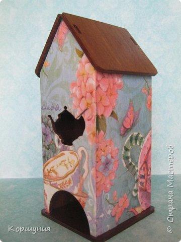 Здравствуйте.Чайный домик в технике декупаж. фото 1