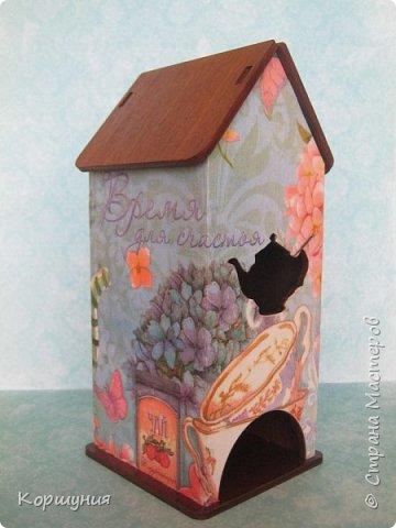 Здравствуйте.Чайный домик в технике декупаж. фото 2