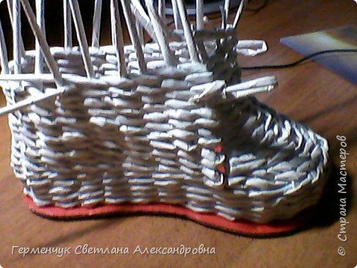 Шкатулка - ботинок из бумажных трубочек .Увидела   МК   для начинающих  у замечательной  мастерицы Елены Пузановой . фото 9
