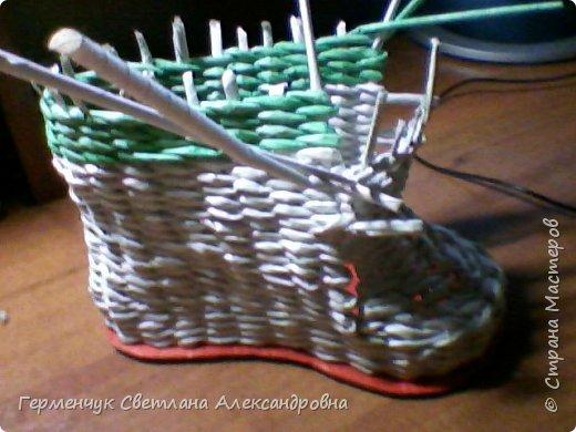 Шкатулка - ботинок из бумажных трубочек .Увидела   МК   для начинающих  у замечательной  мастерицы Елены Пузановой . фото 11