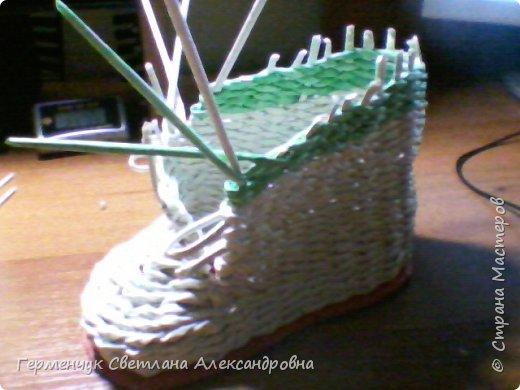 Шкатулка - ботинок из бумажных трубочек .Увидела   МК   для начинающих  у замечательной  мастерицы Елены Пузановой . фото 12