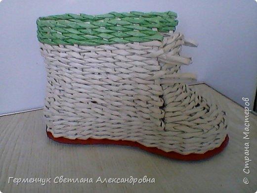 Шкатулка - ботинок из бумажных трубочек .Увидела   МК   для начинающих  у замечательной  мастерицы Елены Пузановой . фото 13