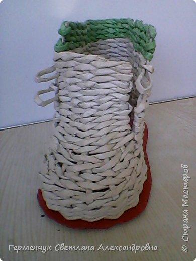 Шкатулка - ботинок из бумажных трубочек .Увидела   МК   для начинающих  у замечательной  мастерицы Елены Пузановой . фото 14