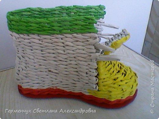 Шкатулка - ботинок из бумажных трубочек .Увидела   МК   для начинающих  у замечательной  мастерицы Елены Пузановой . фото 17