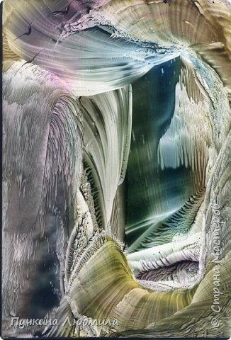 """ВОЛШЕБНЫЙ ЗАМОК"", ф.А.4, картон, утюг, воск, техника - Энкаустика фото 1"