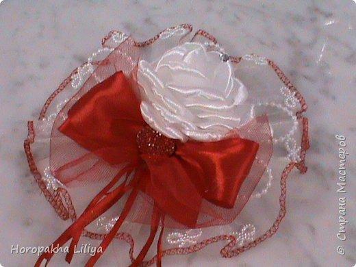 Если у Вас свадьба - bicolor. Шляпка для невесты и не только в красно белых тонах в стиле канзаши фото 2