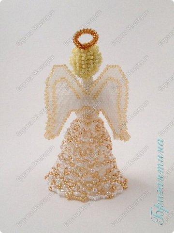 Новая куколка, ангел, сложно передать фотографией блеск стеклянных бусин. фото 3