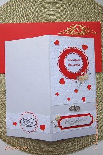 На мой взгляд, очень удачненько всё сложилось. Красный конверт. Купила упаковку разноцветных, теперь под них и открытки делаю. фото 2