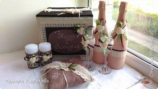 Казна, бокалы,  свечи,замок, подушка для колец. На всё ушла неделя. фото 1