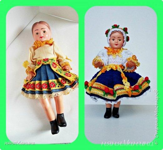 """Здравствуйте, уважаемые жители Страны Мастеров. Как-то так получается, что меня стали находить))) винтажные куколки, которым нужно """"лечение"""". Вот хочу поделиться с вами, что у меня получается. Это кукла ГДР чучка или Барбарик, ей я шила новое тело и вязала одежду, старалась, чтобы новая одежка была максимально приближена к родному аутфиту. Если интересны подробности, то чучка-Барбарик здесь https://naninarukodelky.blogspot.ru/2016/09/blog-post.html, фото 6"""