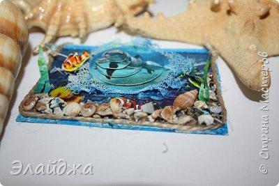 Привет всем моим друзьям и гостям странички. Лето ,жара..... желание поплавать на море, вообщем у меня с утра такое морское  настроение. Увидев картинки с 3D-эффектом, я решила попробовать сделать такую серию карточек.  Спасибо ИРИСКА 2012 и ее доченьке Людочке  они живут  в СМ здесь (http://stranamasterov.ru/user/191152) за то что прислали мне ракушек с побережья Черного моря, а точнее с Одессы. Я решила  их использовать, для актуализации дна морского. фото 3