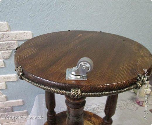 Здравствуйте, мои дорогие жители СМ!   Хочу предложить вашему вниманию мастер-класс по изготовлению вот такого столика. фото 35