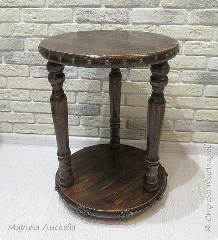 Здравствуйте, мои дорогие жители СМ!   Хочу предложить вашему вниманию мастер-класс по изготовлению вот такого столика. фото 36