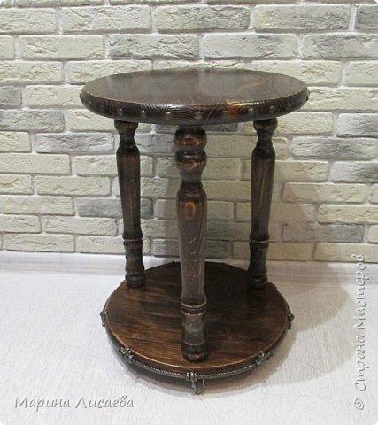 Здравствуйте, мои дорогие жители СМ!   Хочу предложить вашему вниманию мастер-класс по изготовлению вот такого столика. фото 37