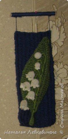"""Мои мини гобелены сотканы вручную и украшены цветами, связанными крючком. Мандала с кисточкой и вверху """"Глаз Бога"""" фото 8"""
