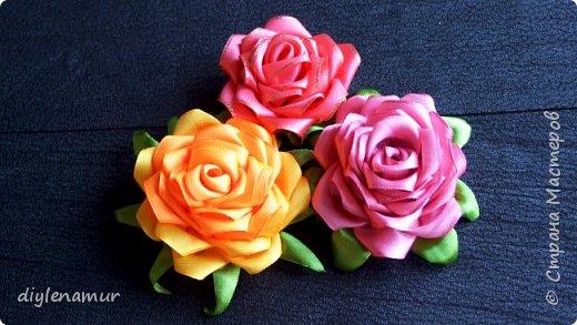 Нежная атласная роза своими руками. Видео мастер-класс канзаши фото 2