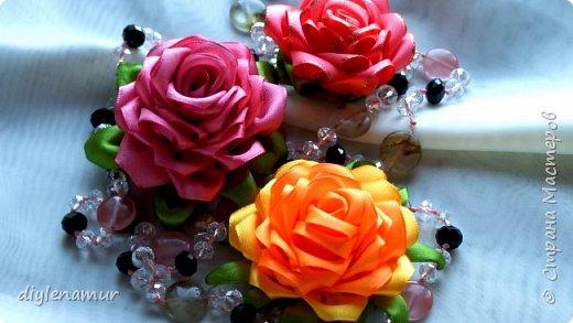 Нежная атласная роза своими руками. Видео мастер-класс канзаши фото 1