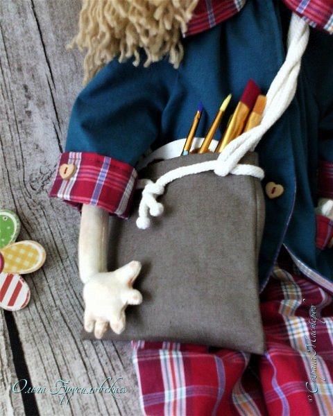 Привет всем в СМ! Мое участие в конкурсе в Инстаграм не ограничилось созданием Повара. Решила сшить еще одну куклу - Художника. фото 8