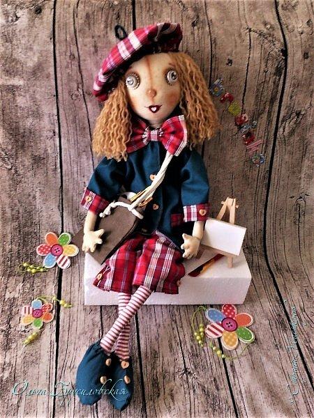 Привет всем в СМ! Мое участие в конкурсе в Инстаграм не ограничилось созданием Повара. Решила сшить еще одну куклу - Художника. фото 9