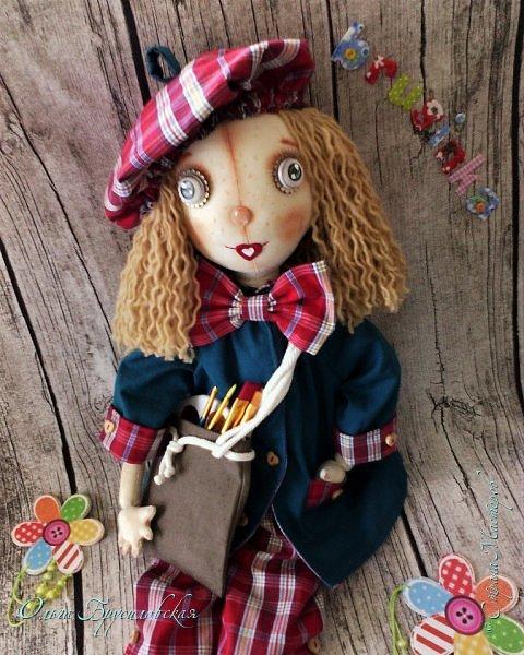 Привет всем в СМ! Мое участие в конкурсе в Инстаграм не ограничилось созданием Повара. Решила сшить еще одну куклу - Художника. фото 7