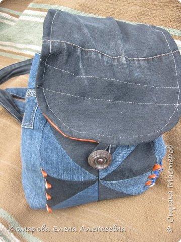 Рюкзак из старых джинс фото 1