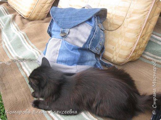 Рюкзак из старых джинс фото 4