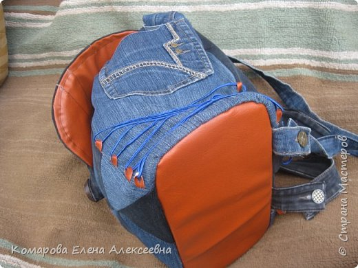 Рюкзак из старых джинс фото 3