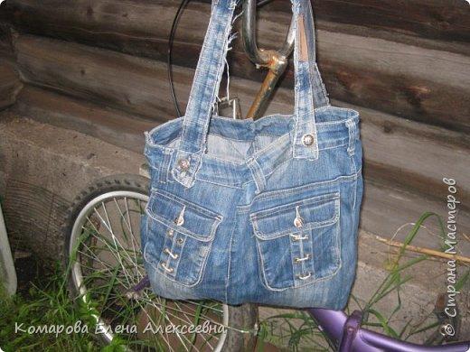 Рюкзак из старых джинс фото 5