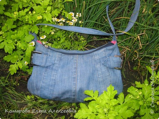 Рюкзак из старых джинс фото 6