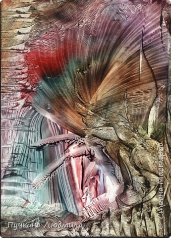 """""""Древо желаний..!, ф.А.4, картон, утюг, воск, техника -Энкаустика фото 3"""