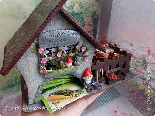 Чайный домик с гномиками!!!! Декорировала заготовку полимерной глиной!!! фото 1
