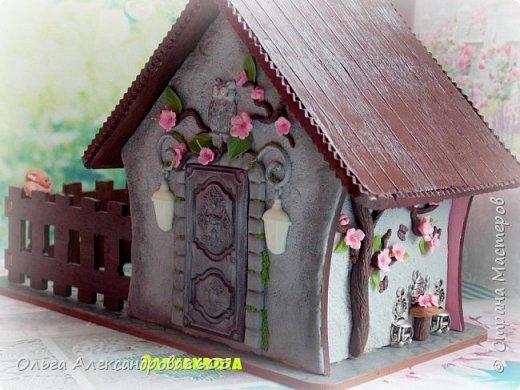 Чайный домик с гномиками!!!! Декорировала заготовку полимерной глиной!!! фото 4