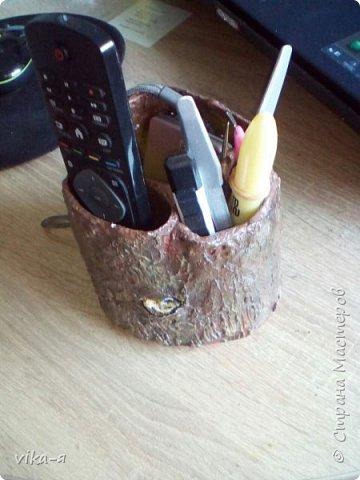 декоративная подставка для карандашей и прочей мелочи.с гнездом фото 6