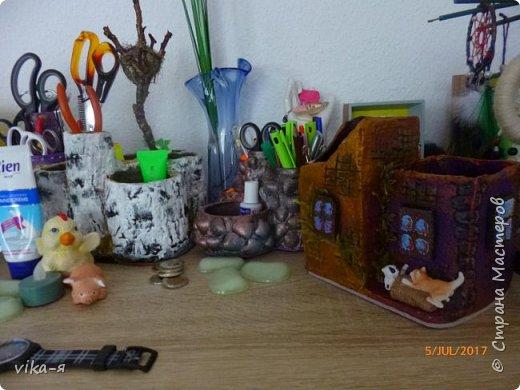 декоративная подставка для карандашей и прочей мелочи.с гнездом фото 7