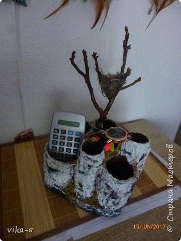 декоративная подставка для карандашей и прочей мелочи.с гнездом фото 1