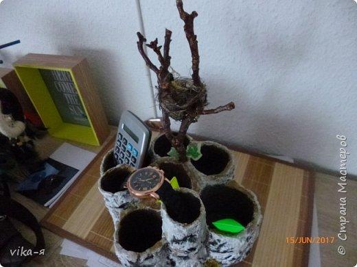 декоративная подставка для карандашей и прочей мелочи.с гнездом фото 2