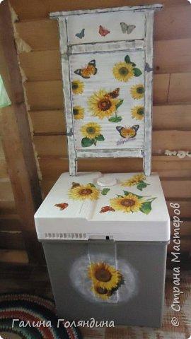 Стиральная машинка ( не рабочая ) под корзину для белья в баньку . фото 4