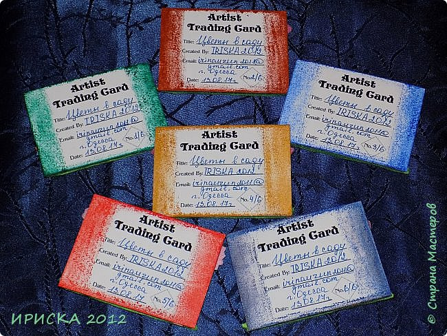 Привет всем гостям моей странички!!! Несколько серий АТС лежат и ждут вдохновения, а эта серия родилась спонтанно. Увидела в магазине открытку с заборчиком и цветами, конечно, там все было из бумаги, а мне захотелось сделать деревянный забор и ярких цветов. Первыми к выбору приглашаю Элайджу и Олечку -  p_olya71, надеюсь что-то понравится :))) фото 16