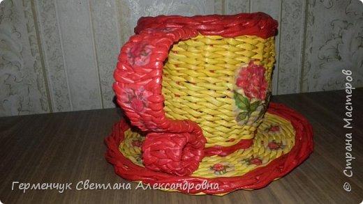 Конфетница - чашка -диаметр блюдца 19 см ,высота 13 см   Большое спасибо   Мастерице   Ладе! фото 14