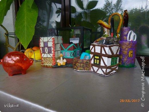 декоративная подставка для карандашей и прочей мелочи.с гнездом фото 11