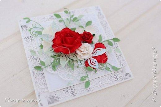 И ещё одна. Опять красно-белая, но таким был букет невесты и я традицию не изменила. фото 3