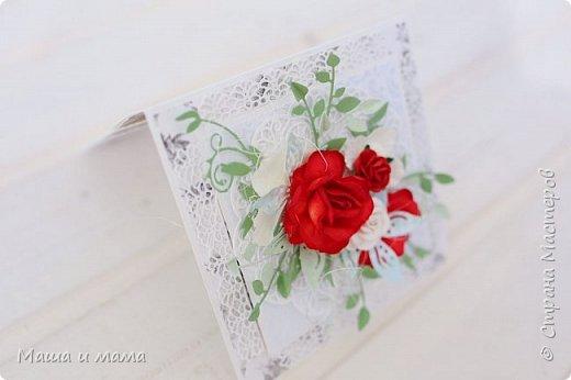 И ещё одна. Опять красно-белая, но таким был букет невесты и я традицию не изменила. фото 2