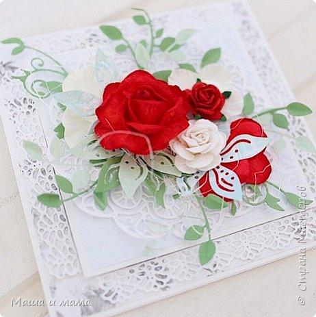 И ещё одна. Опять красно-белая, но таким был букет невесты и я традицию не изменила. фото 1