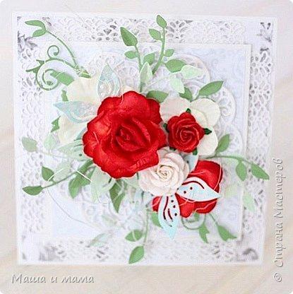 И ещё одна. Опять красно-белая, но таким был букет невесты и я традицию не изменила. фото 4