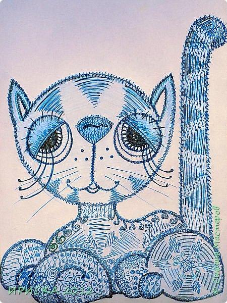 Привет всем гостям моей странички!!! У меня есть папка с рисунками, которые рисую по настроению. Честно говоря, особо хвастаться нечем, ничего особенного, все увиденное в инете, конечно добавила и от себя. Скорее это баловство, чем творчество... Этих девочек увидела и сразу нарисовала, рамку сделала отпечатком резиновой салфетки когда тренировалась делать узоры для ключниц. фото 5