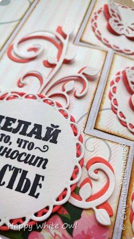 Всем привет!  Сегодня хочу Вам показать открытку с интересной раскладкой.  Схему найдете здесь http://frommycraftroom.blogspot.ru/search/label/3-Step%20Cards. Там все размеры указаны в сантиметрах, что очень облегчает жизнь)) У меня открытка получилась довольно простой, т.к. я подобные открытки оформлять просто не умею. Хотела в правый верхний угол добавить цветы, но у меня не получилось сделать их достаточно красивыми. Поэтому угол остался голым. фото 5