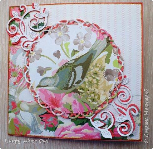 Всем привет!  Сегодня хочу Вам показать открытку с интересной раскладкой.  Схему найдете здесь http://frommycraftroom.blogspot.ru/search/label/3-Step%20Cards. Там все размеры указаны в сантиметрах, что очень облегчает жизнь)) У меня открытка получилась довольно простой, т.к. я подобные открытки оформлять просто не умею. Хотела в правый верхний угол добавить цветы, но у меня не получилось сделать их достаточно красивыми. Поэтому угол остался голым. фото 1