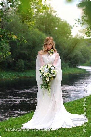 """вот и подошел к концу летний флешмоб,темой которого была """" Эльфийская свадьба"""". Для этого проекта был сделан букет из фоамирана и два комплекта украшений,а также каффы фото 1"""